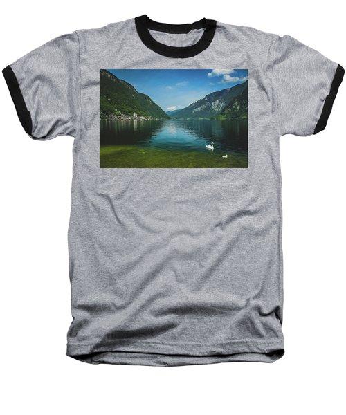 Lake Hallstatt Swans Baseball T-Shirt