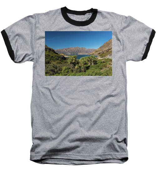 Baseball T-Shirt featuring the photograph Lake Hawea Approach, Otago by Gary Eason