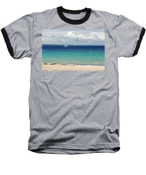 Baseball T-Shirt featuring the photograph Lake Huron Sailboat by Meta Gatschenberger