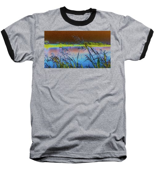Baseball T-Shirt featuring the photograph Lake II by Donna G Smith