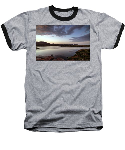 Lake In The Wichita Mountains  Baseball T-Shirt