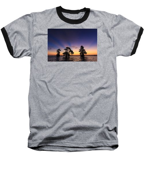 Lake Istokpoga Sunrise Baseball T-Shirt