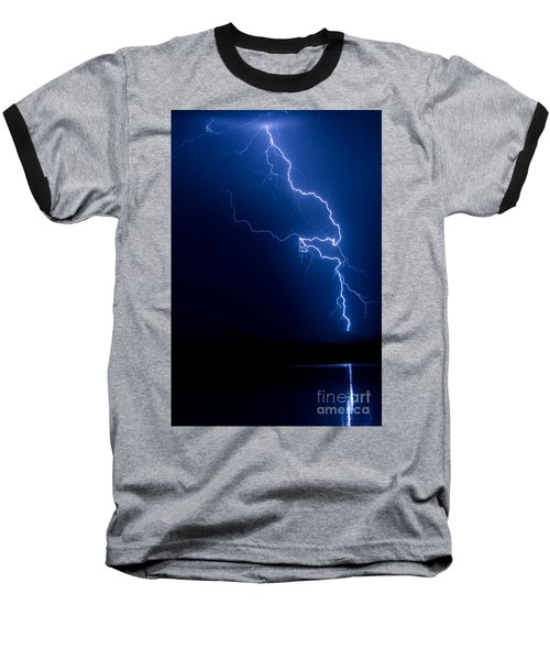 Lake Lightning Strike Baseball T-Shirt