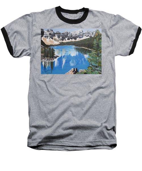 Lake Louise  Baseball T-Shirt by Francine Heykoop