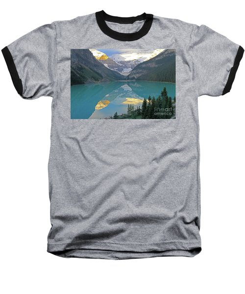 Lake Louise Sunrise Baseball T-Shirt