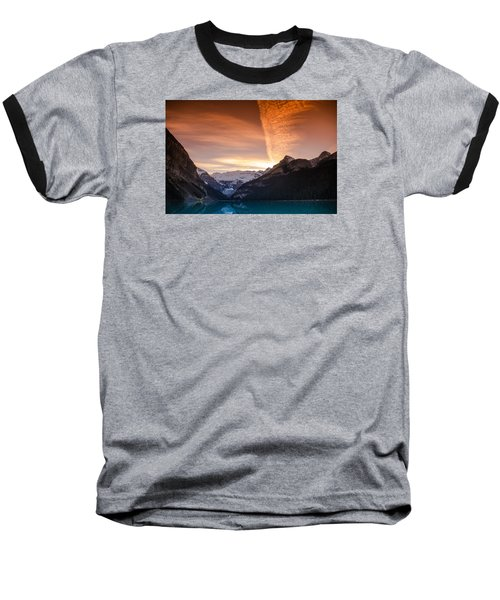 Lake Louise Sunset Baseball T-Shirt