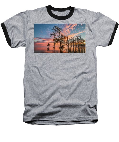 Lake Maurepas On Fire Baseball T-Shirt