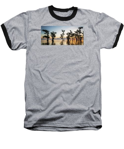Baseball T-Shirt featuring the photograph Lake Maurepas Sunrise by Andy Crawford