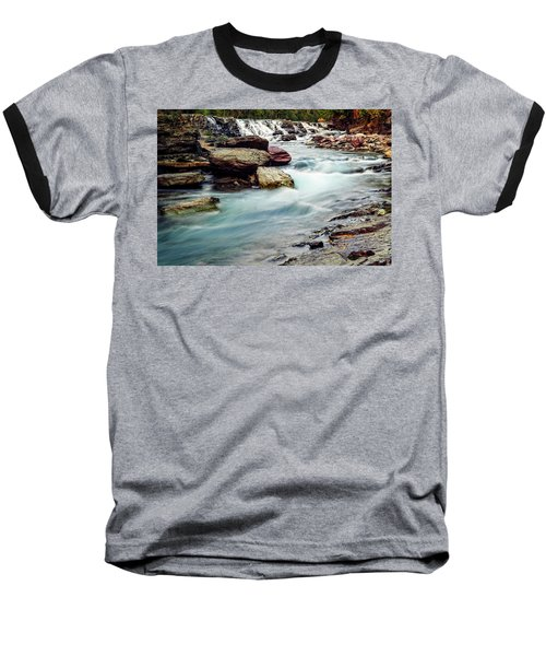 Lake Mcdonald Falls, Glacier National Park, Montana Baseball T-Shirt