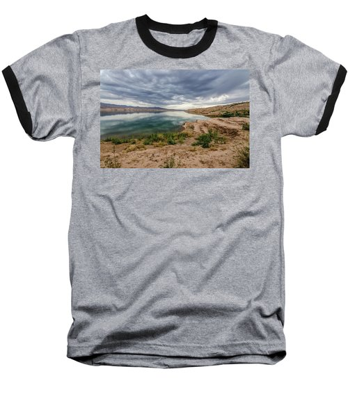 Baseball T-Shirt featuring the photograph Lake Mead Reflections by Margaret Pitcher