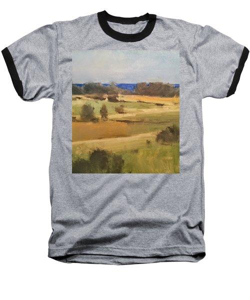 Lake Michigan Across The Field Baseball T-Shirt