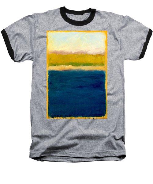 Lake Michigan Beach Abstracted Baseball T-Shirt