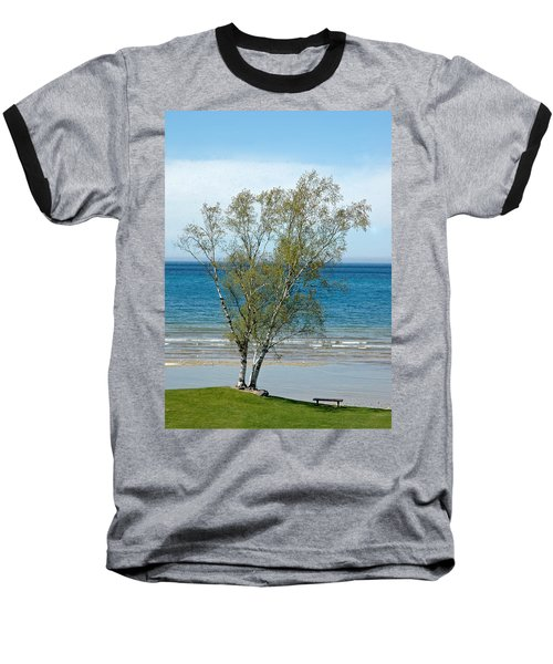 Baseball T-Shirt featuring the photograph Lake Michigan Birch Tree by LeeAnn McLaneGoetz McLaneGoetzStudioLLCcom