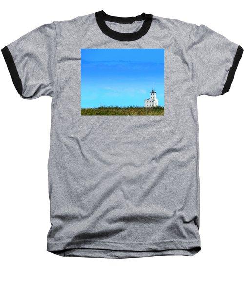 Lake Michigan Lighthouse Baseball T-Shirt