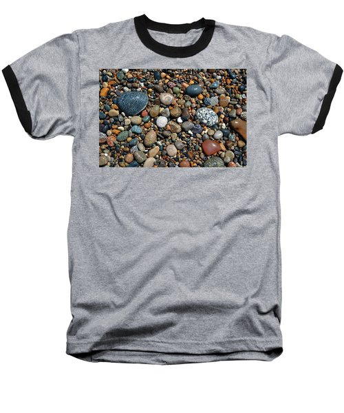 Baseball T-Shirt featuring the photograph Lake Michigan Stone Collection by Michelle Calkins