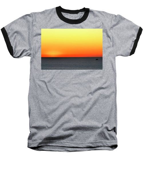Lake Michigan Sunrise Baseball T-Shirt by Zawhaus Photography