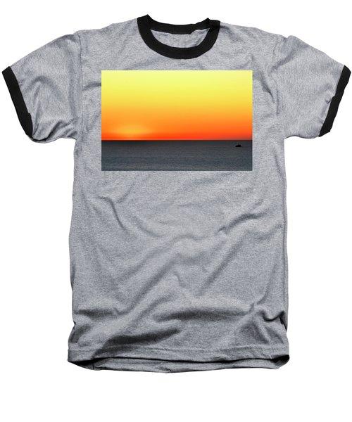 Lake Michigan Sunrise Baseball T-Shirt
