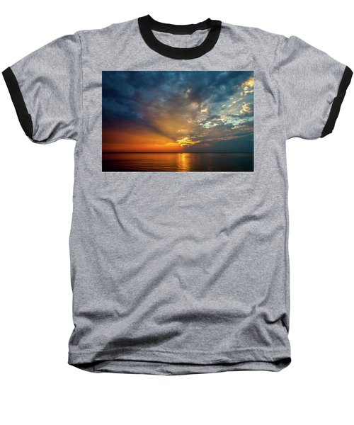 Lake Michigan Sunset Baseball T-Shirt