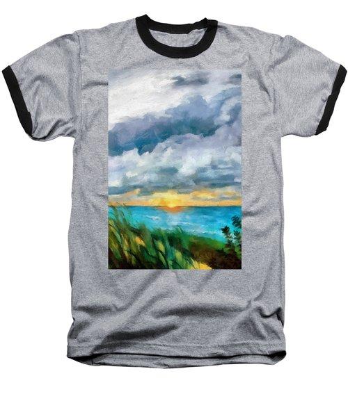 Lake Michigan Sunset Baseball T-Shirt