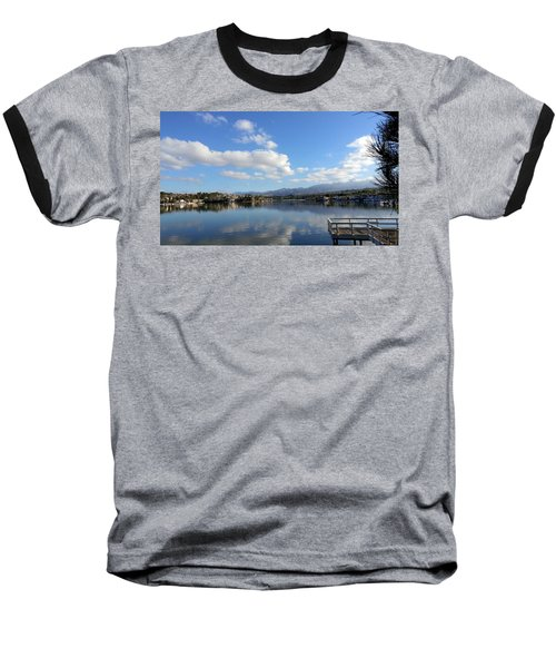 Lake Mission Viejo Cloud Reflections Baseball T-Shirt