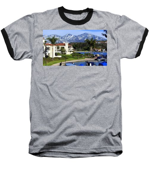 Lake Mission Viejo Snow On Saddleback Mountain Baseball T-Shirt