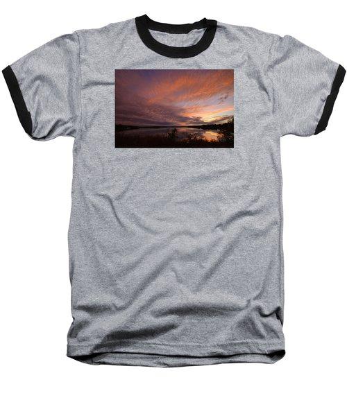 Lake Moss 2504b Baseball T-Shirt by Ricardo J Ruiz de Porras