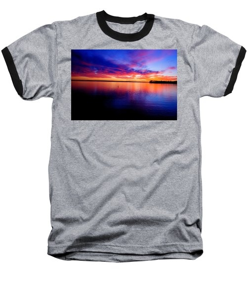 Lake Murray Sunset 21 Baseball T-Shirt