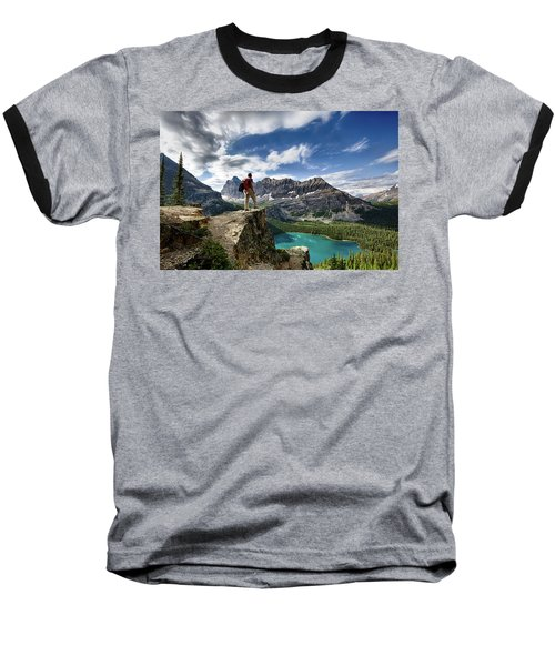 Lake O'hara Adventure Baseball T-Shirt