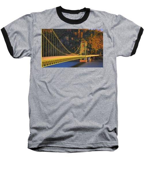 Lake Oroville Green Bridge At Sunset Baseball T-Shirt