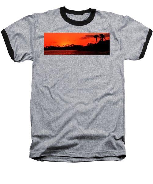 Lake Osborne Sunset Baseball T-Shirt