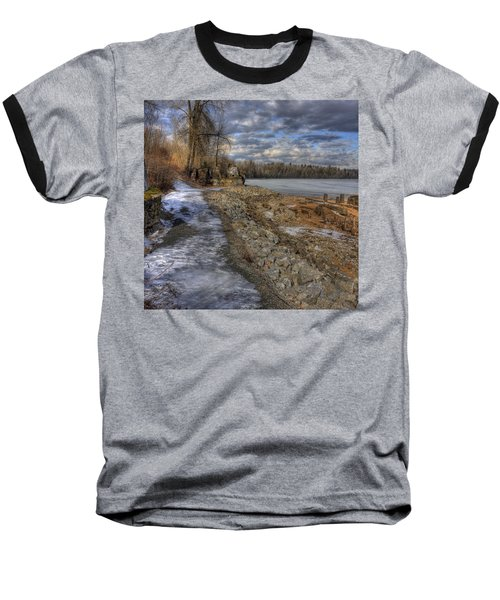 Lake Pend D'oreille At Humbird Ruins Baseball T-Shirt
