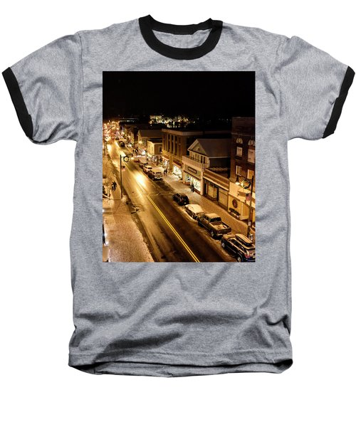 Baseball T-Shirt featuring the photograph Lake Placid New York - Main Street by Brendan Reals
