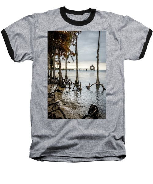Lake Pontchartrain Uncropped Baseball T-Shirt