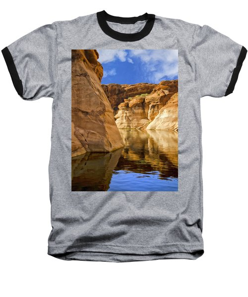 Lake Powell Stillness Baseball T-Shirt by Dominic Piperata