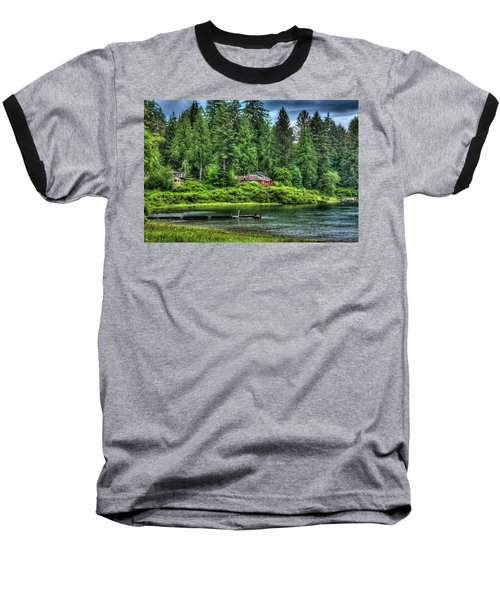Lake Quinault 3 Baseball T-Shirt by Richard J Cassato