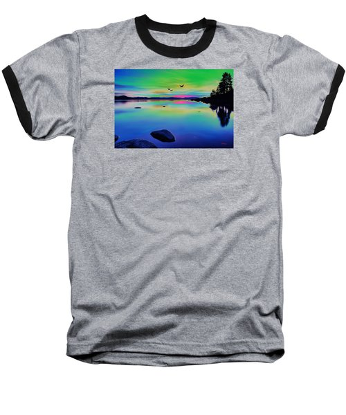 Lake Reflections 2 Baseball T-Shirt