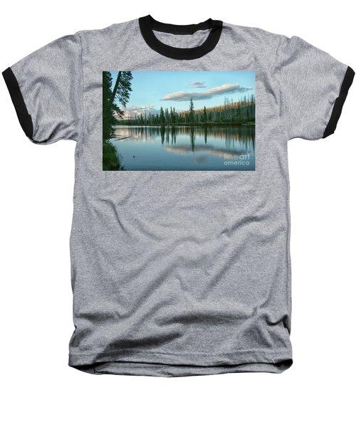 Lake Reflections Baseball T-Shirt by Myrna Bradshaw