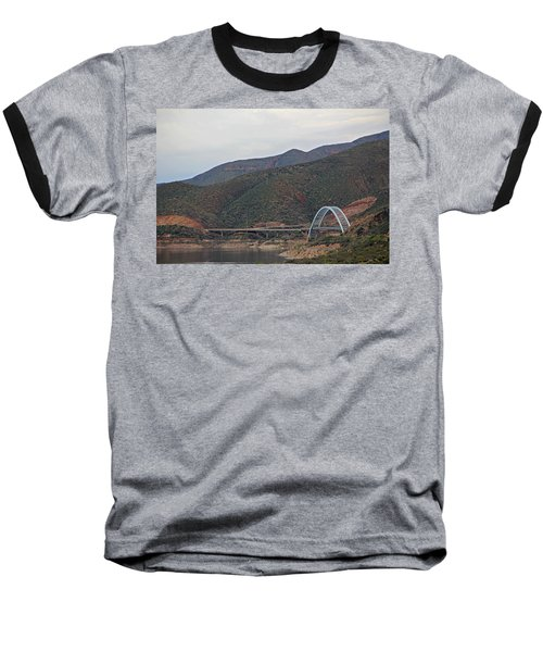 Lake Roosevelt Bridge 2 Baseball T-Shirt