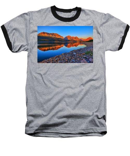 Lake Sherburne Dawn Baseball T-Shirt by Greg Norrell