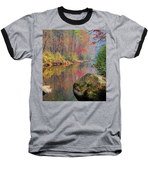 Baseball T-Shirt featuring the painting Chattooga Paradise by Steven Richardson