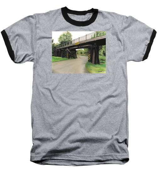 Lake St. Rr Overpass Baseball T-Shirt by Ferrel Cordle