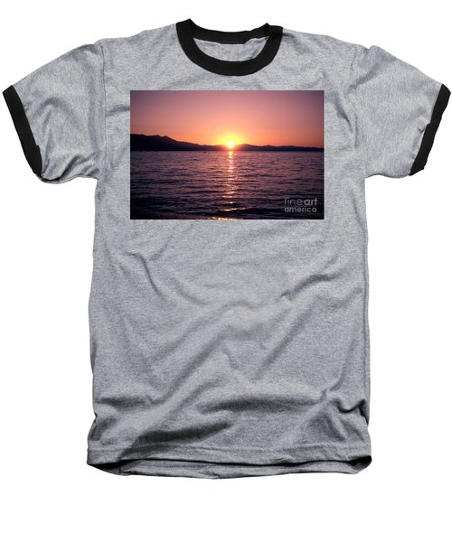 Lake Sunset 8pm Baseball T-Shirt