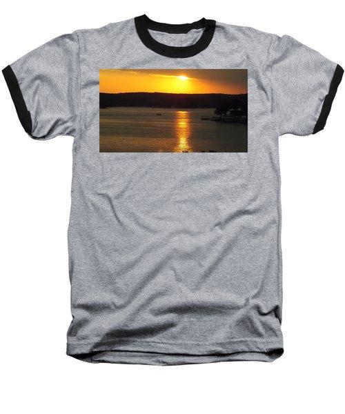 Lake Sunset  Baseball T-Shirt by Don Koester