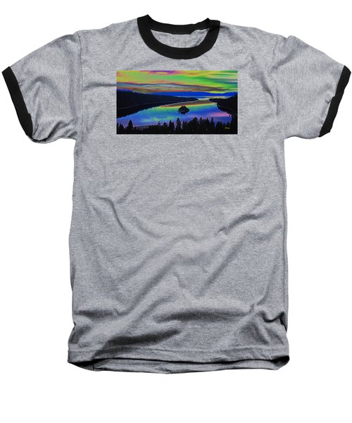 Lake Sunset Baseball T-Shirt