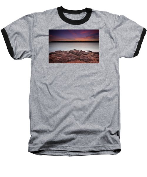 Lake Sunset Iv Baseball T-Shirt