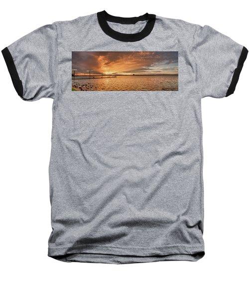 Lake Sunset Baseball T-Shirt