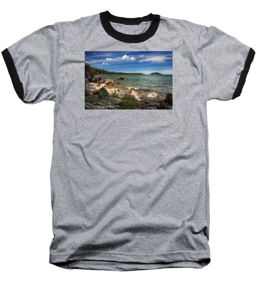 Lake Superior Baseball T-Shirt by Dan Hefle