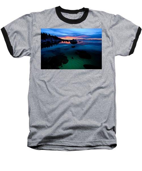 Lake Tahoe Clarity At Sundown Baseball T-Shirt