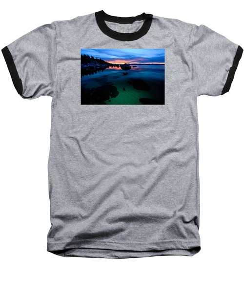 Lake Tahoe Clarity At Sundown Baseball T-Shirt