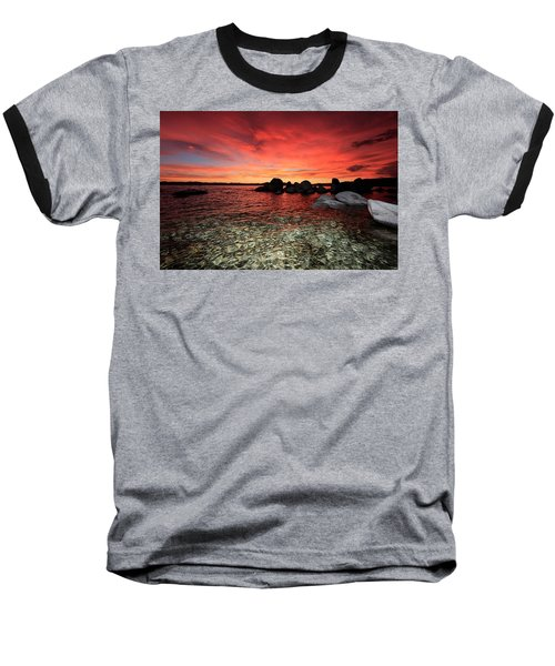 Lake Tahoe Liquid Dreams Baseball T-Shirt